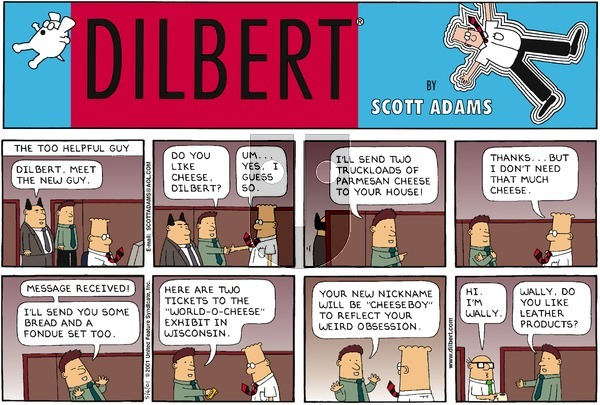 Dilbert on Sunday May 6, 2001 Comic Strip