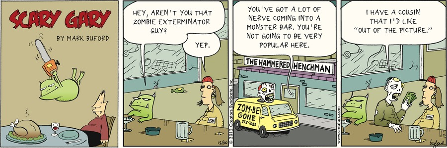 Scary Gary for Dec 30, 2012 Comic Strip