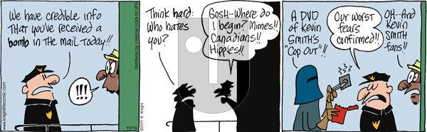 The Knight Life on Thursday November 10, 2011 Comic Strip