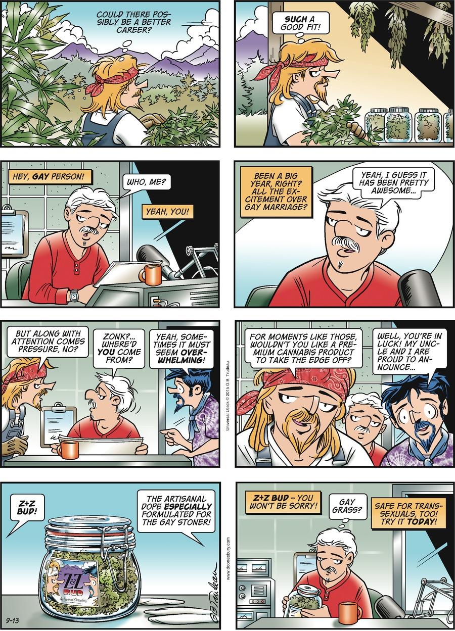 Doonesbury Comic Strip for September 13, 2015