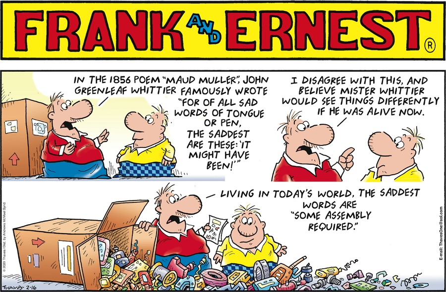 Frank and Ernest Comic Strip for February 16, 2020