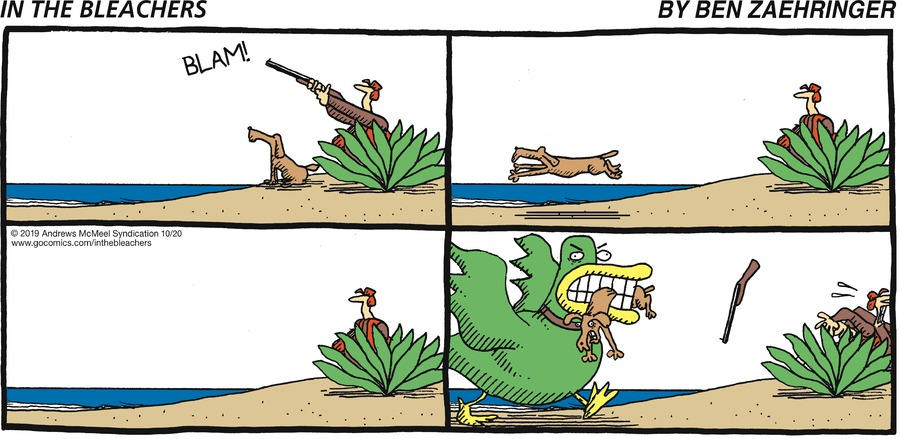 In the Bleachers Comic Strip for October 20, 2019