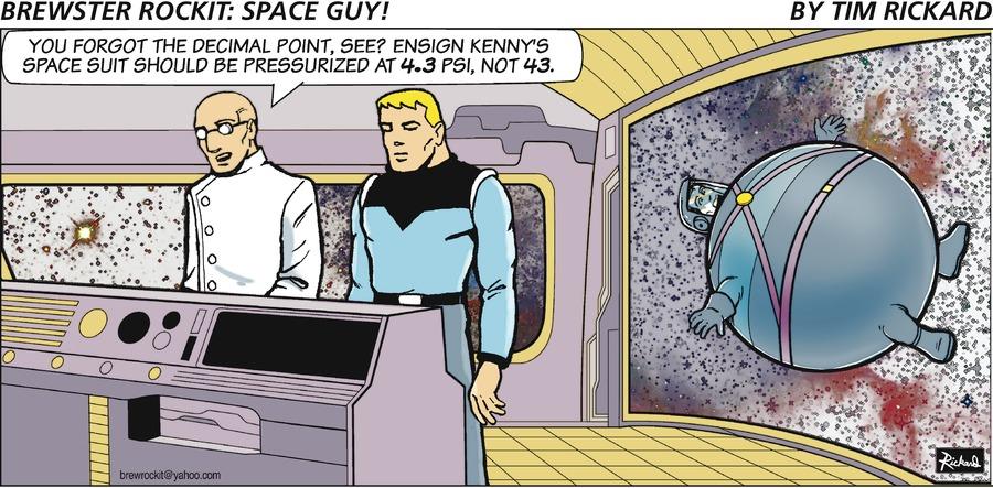 Brewster Rockit Comic Strip for September 26, 2021