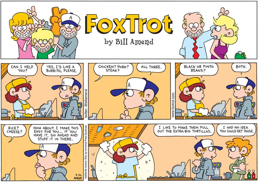 FoxTrot Comic Strip for July 22, 2012