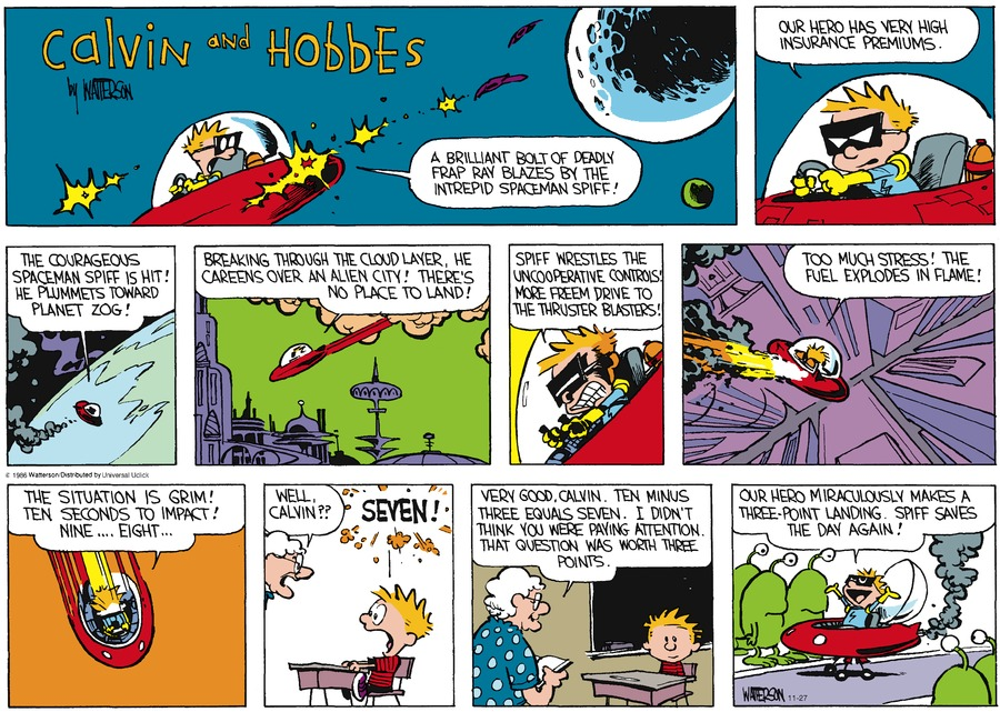 Calvin and Hobbes Comic Strip for November 27, 2016