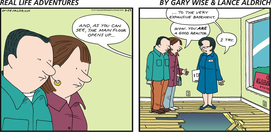 Real Life Adventures for Mar 23, 2014 Comic Strip