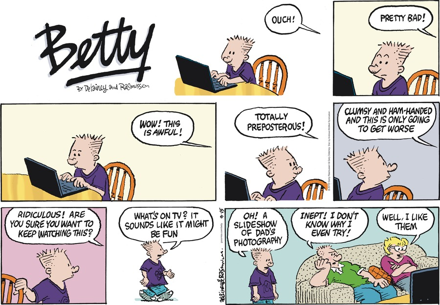 Betty by Gary Delainey and Gerry Rasmussen for September 15, 2019