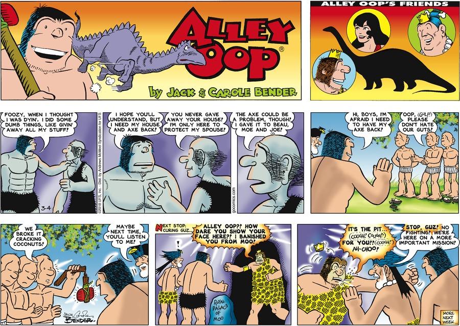Alley Oop for Mar 4, 2018 Comic Strip