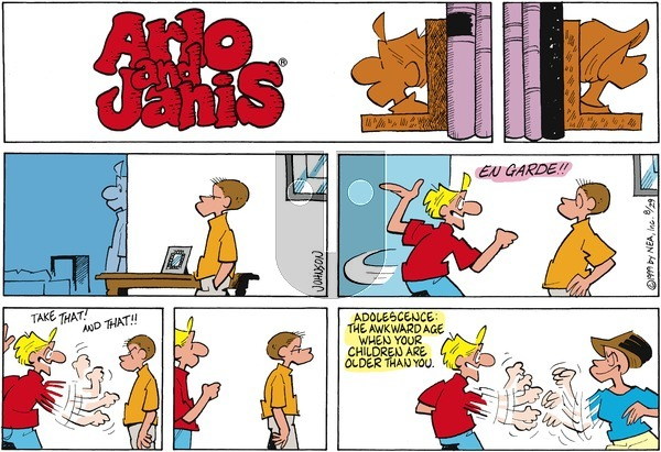 Arlo and Janis on Sunday August 29, 1999 Comic Strip