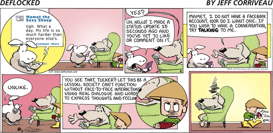 DeFlocked Comic Strip for March 09, 2014