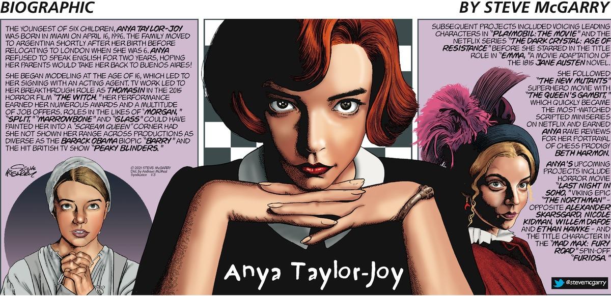 Biographic Comic Strip for January 03, 2021