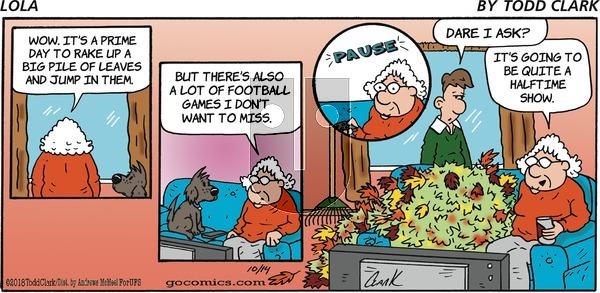 Lola on Sunday October 14, 2018 Comic Strip