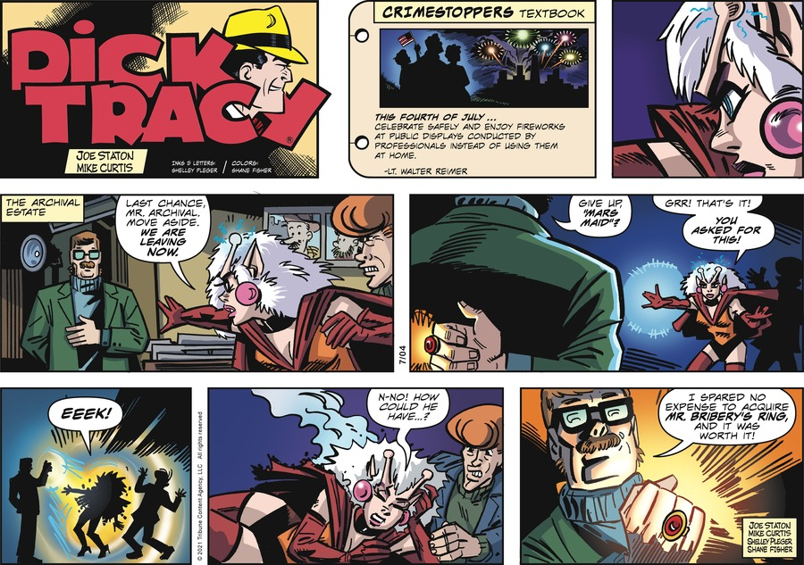 Dick Tracy Comic Strip for July 04, 2021