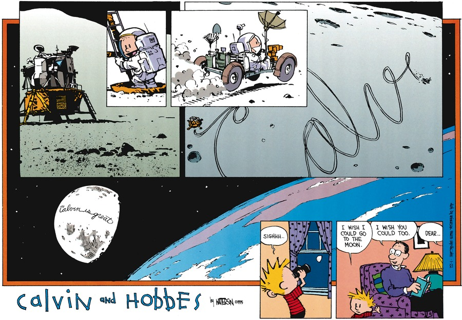 Calvin and Hobbes for Jan 22, 1995 Comic Strip