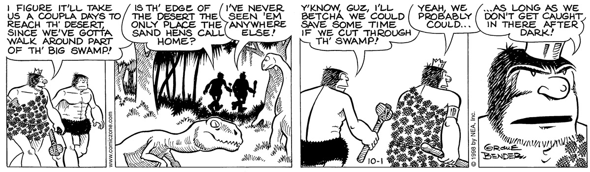 Alley Oop for Oct 1, 1998 Comic Strip