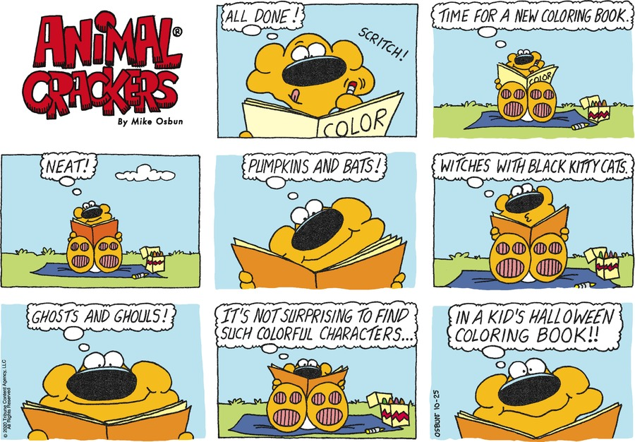 Animal Crackers Comic Strip for October 25, 2020