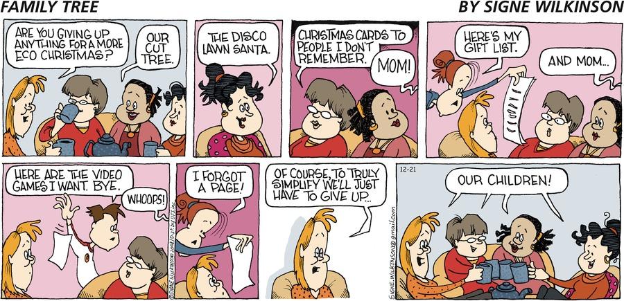 Family Tree Comic Strip for December 21, 2008