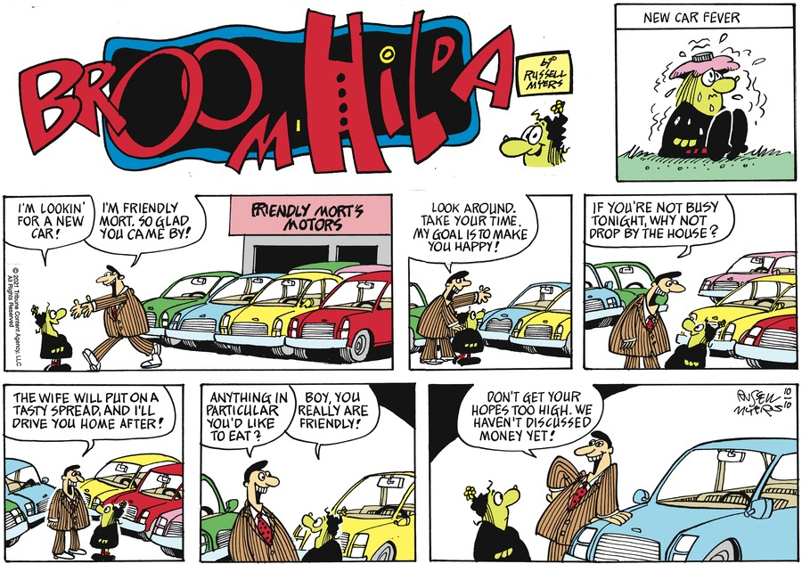 Broom Hilda by Russell Myers on Sun, 10 Oct 2021