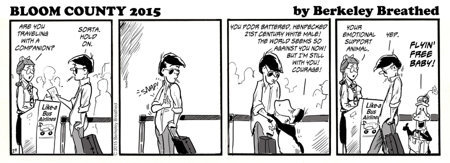 Bloom County 2019 Comic Strip for August 25, 2015