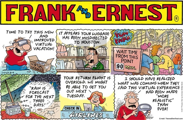 Frank and Ernest on Sunday June 4, 2017 Comic Strip