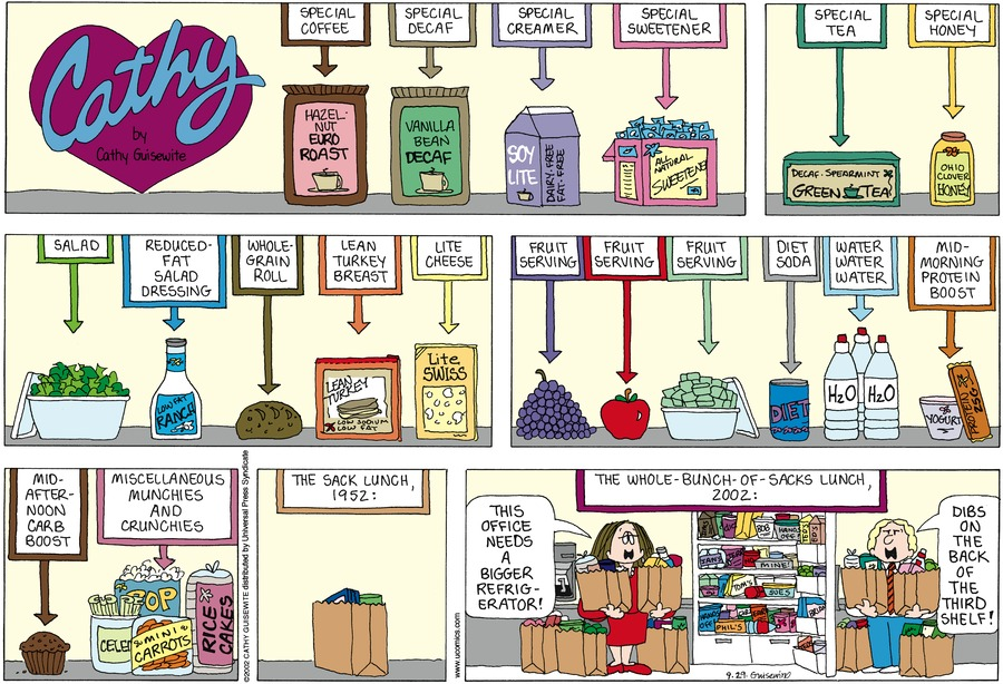 Cathy for Sep 29, 2002 Comic Strip