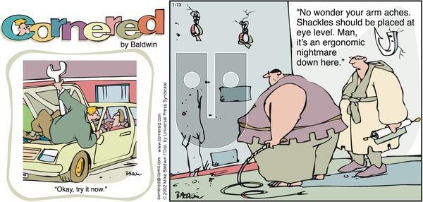 Cornered on Sunday January 13, 2002 Comic Strip