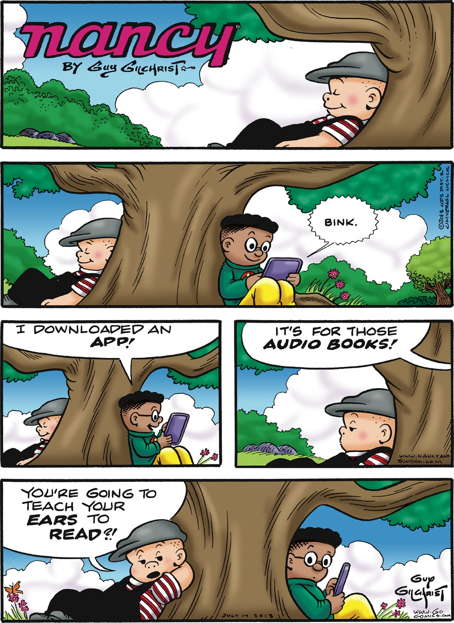 Nancy for Jul 14, 2013 Comic Strip