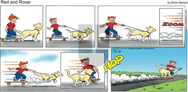 Red and Rover on Sunday July 25, 2021 Comic Strip