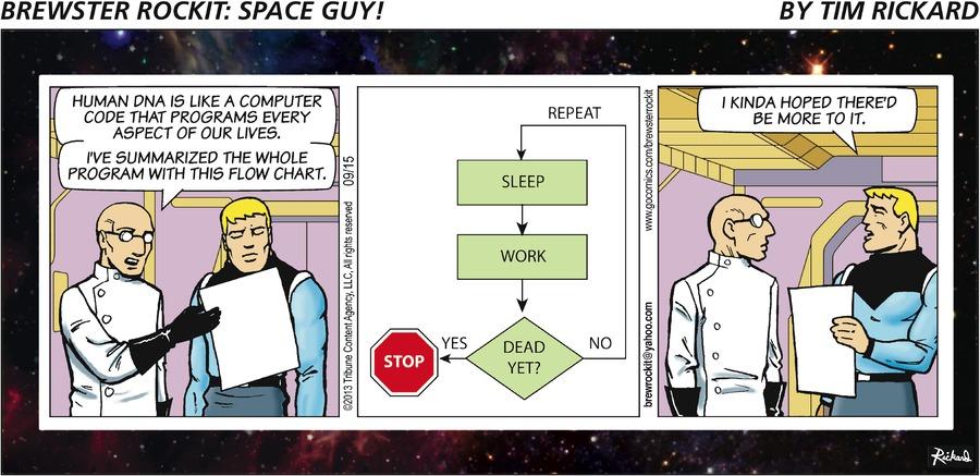 Brewster Rockit for Sep 15, 2013 Comic Strip