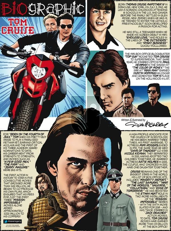 Biographic on Sunday August 6, 2017 Comic Strip