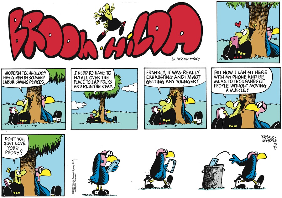 Broom Hilda by Russell Myers on Sun, 17 Oct 2021