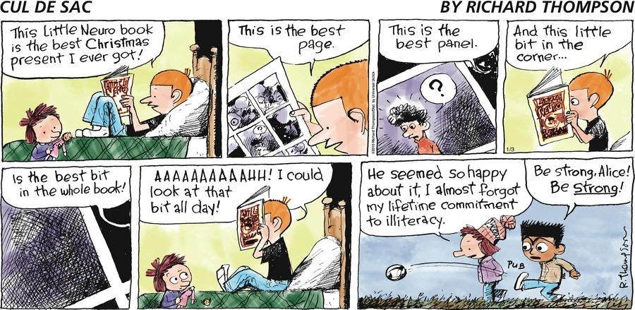 Cul de Sac for Jan 3, 2010 Comic Strip
