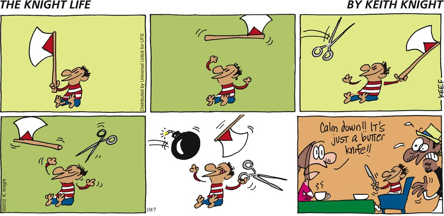The Knight Life Comic Strip for October 07, 2012