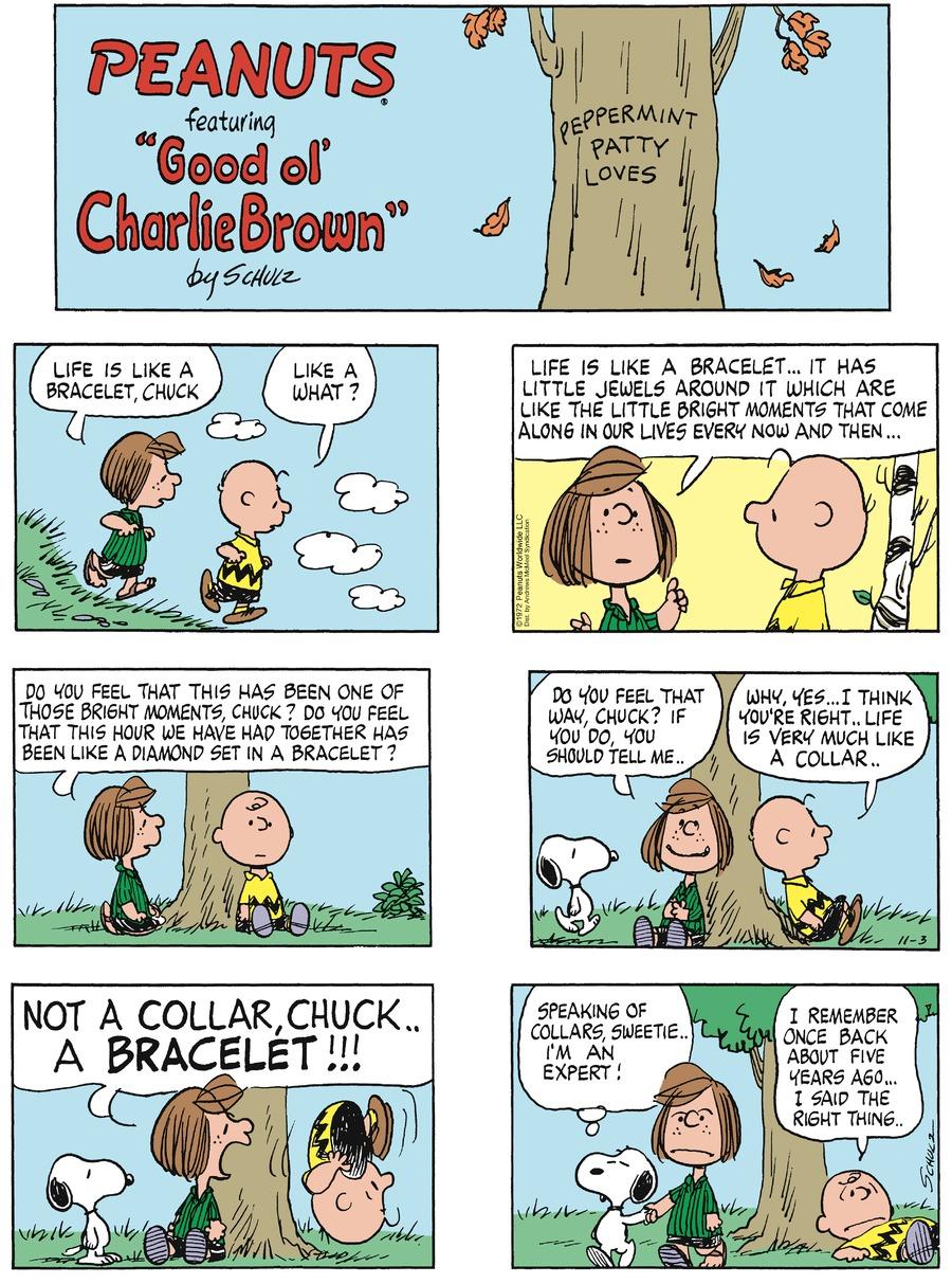 Peanuts Comic Strip for November 03, 2019