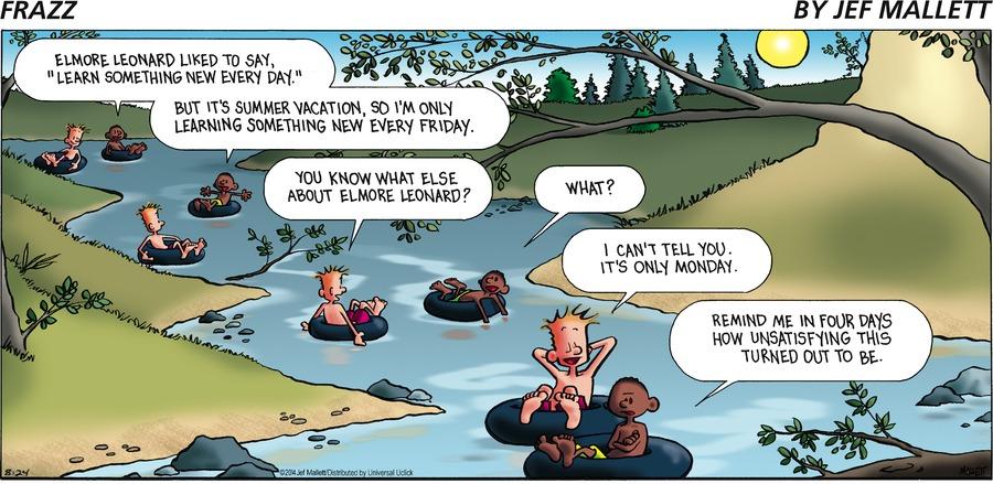 Frazz for Aug 24, 2014 Comic Strip