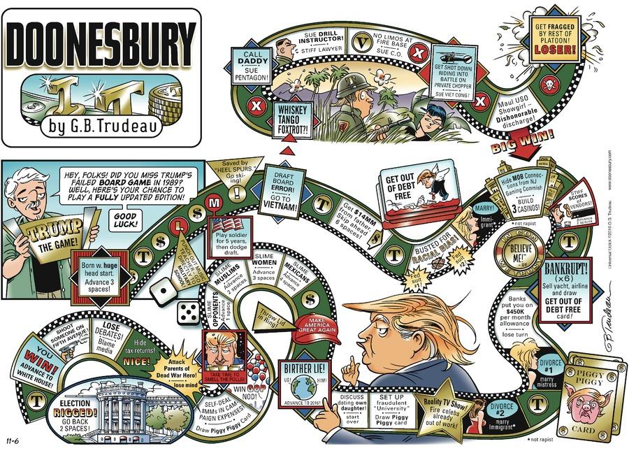 Doonesbury Comic Strip for November 06, 2016