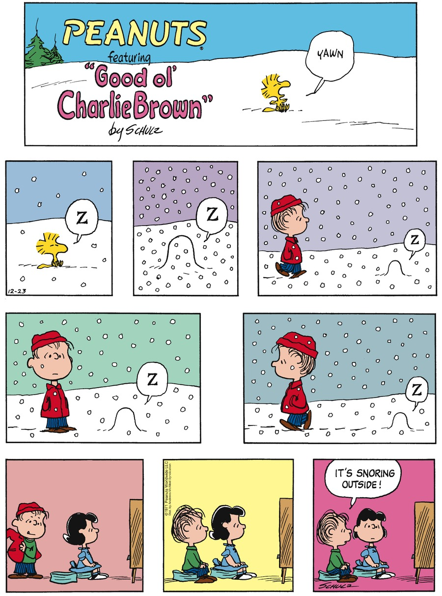 Peanuts by Charles Schulz for December 23, 2018