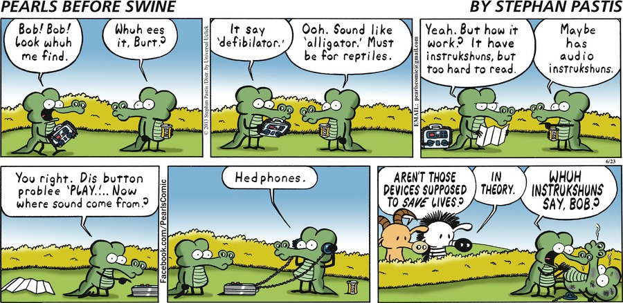 Pearls Before Swine Comic Strip for June 23, 2013