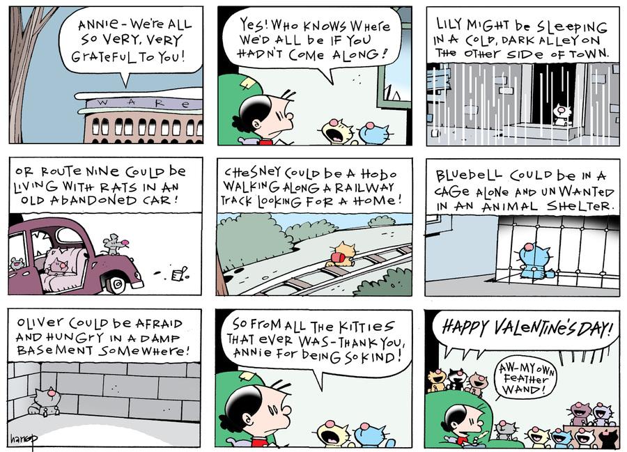 Ten Cats for Feb 14, 2018 Comic Strip