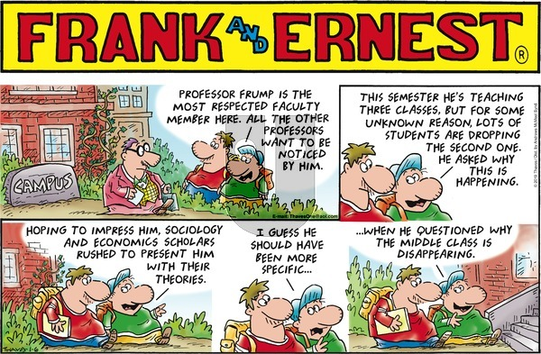 Frank and Ernest on Sunday January 6, 2019 Comic Strip
