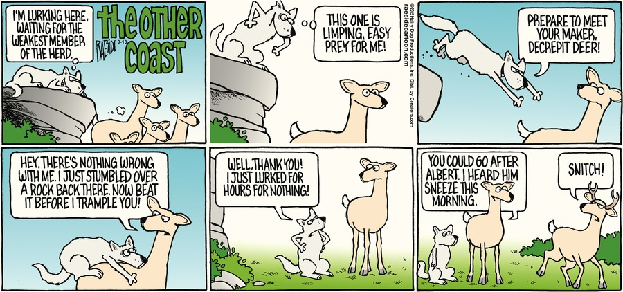 The Other Coast Comic Strip for September 13, 2015