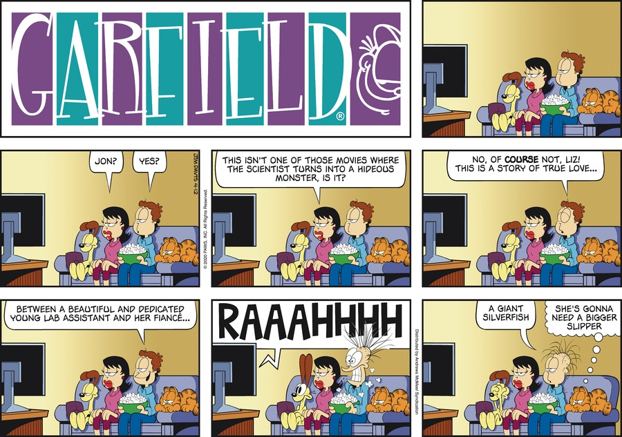 Garfield Comic Strip for April 12, 2020