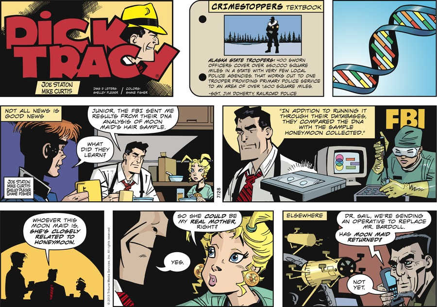 Dick Tracy for Jul 28, 2013 Comic Strip