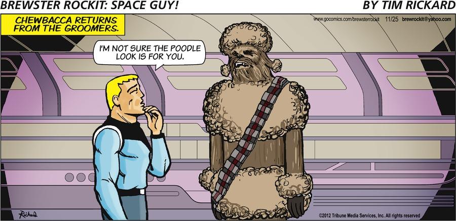 Brewster Rockit for Nov 25, 2012 Comic Strip