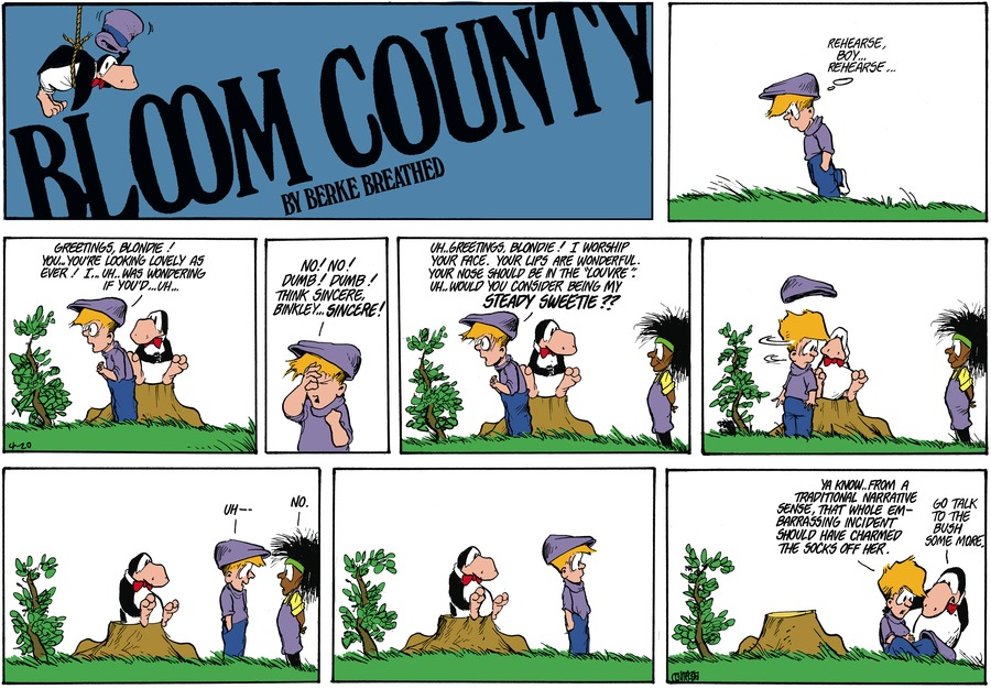 Bloom County Comic Strip for April 20, 1986