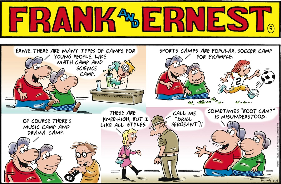 Frank and Ernest Comic Strip for May 16, 2021