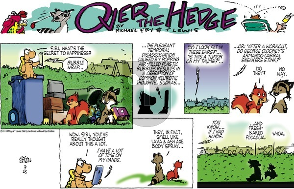 Over the Hedge on Sunday March 25, 2018 Comic Strip