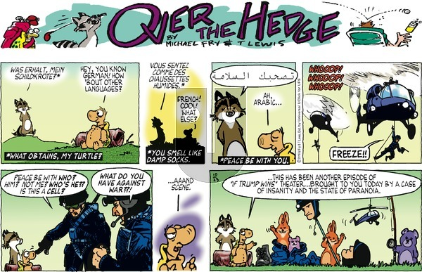 Over the Hedge on Sunday October 23, 2016 Comic Strip