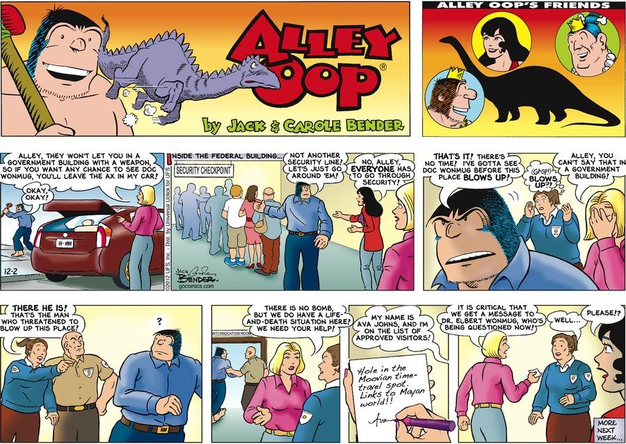 Alley Oop for Dec 2, 2012 Comic Strip