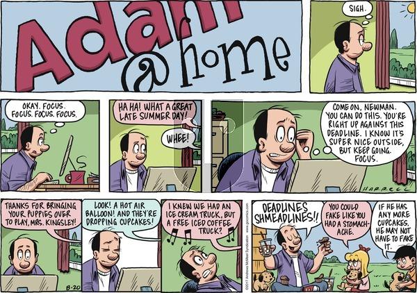 Adam@Home on Sunday August 20, 2017 Comic Strip